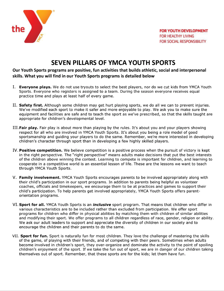 Parents As Equal Participants In Team >> Announcements Waco Family Ymca Y Gametime