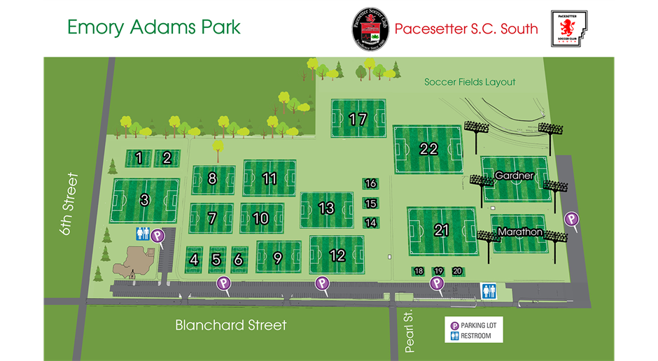 Spring 2021 Soccer Field Map