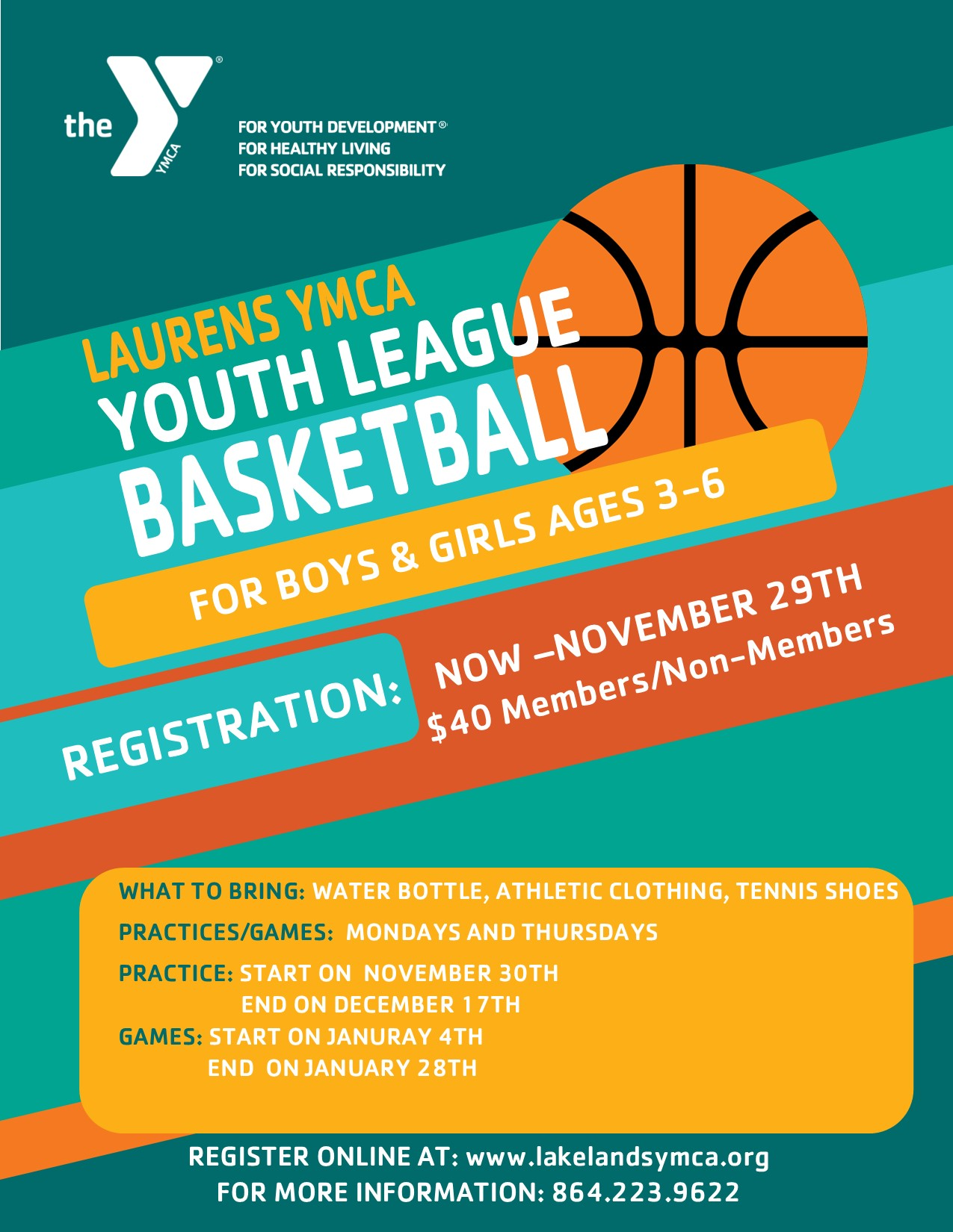 YOUTH BASKETBALL REGISTRATION IS NOW OPEN!